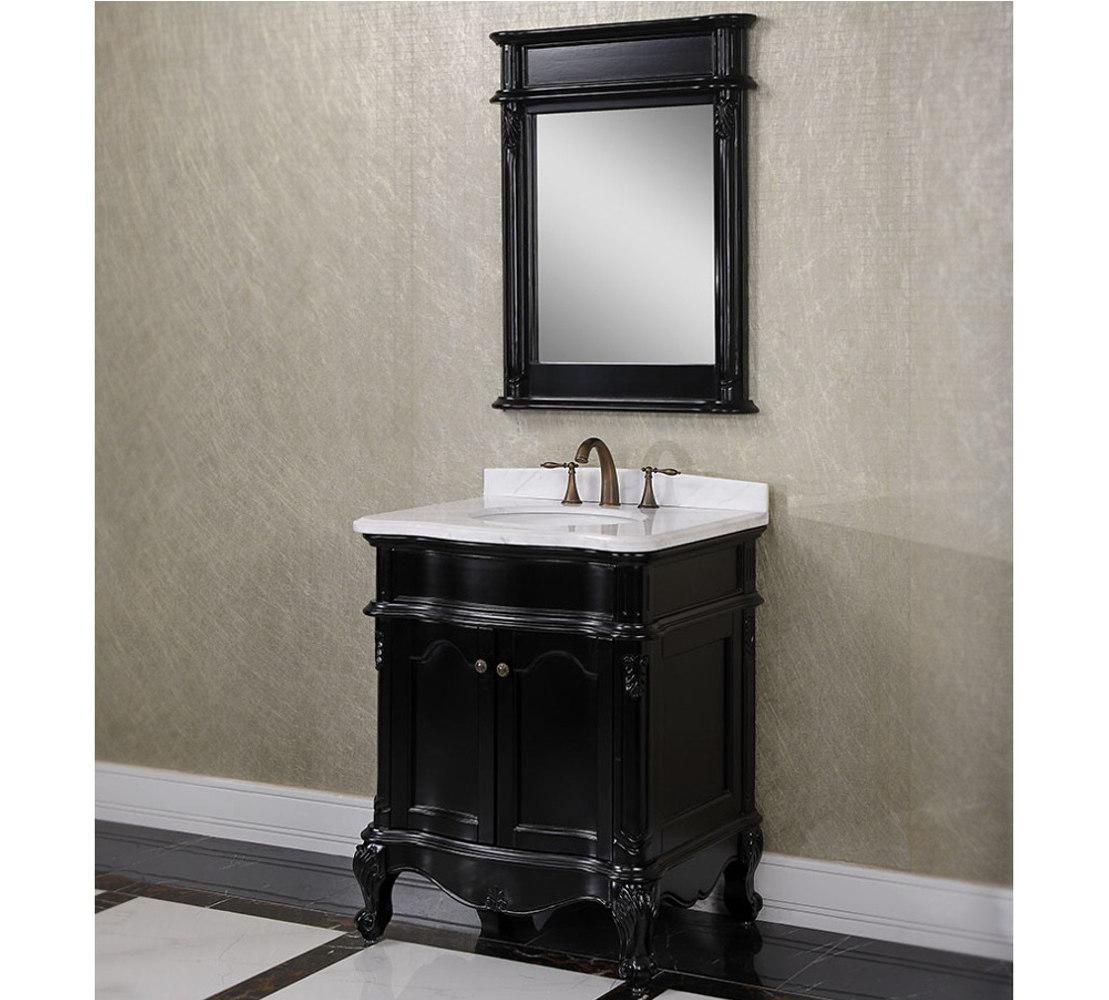 antique bathroom vanity with vessel sink antique wk series 30 inch single sink bathroom vanity matte black finish FBSXZGC