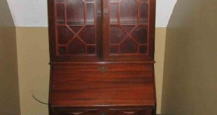 antique drop front secretary desk with bookcase YBMCPJI