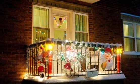 apartment balcony christmas decorating ideas ... apartment christmas decorations small space holiday decorating decor  apartment balcony christmas YAQSQMX