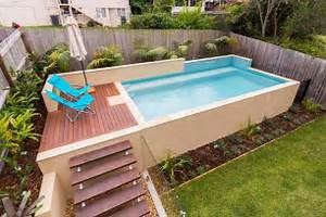 backyard small rectangular above ground swimming pools . EBQWGJY