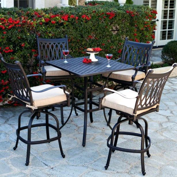 bar height patio set with swivel chairs bar height outdoor furniture counter height patio furniture with white OQTBAEM