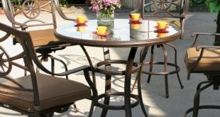 bar height patio set with swivel chairs darlee ten star 5 piece cast aluminum patio bar set with MVZKSBY