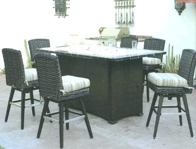 bar height patio set with swivel chairs pub height patio set EWZQPCT