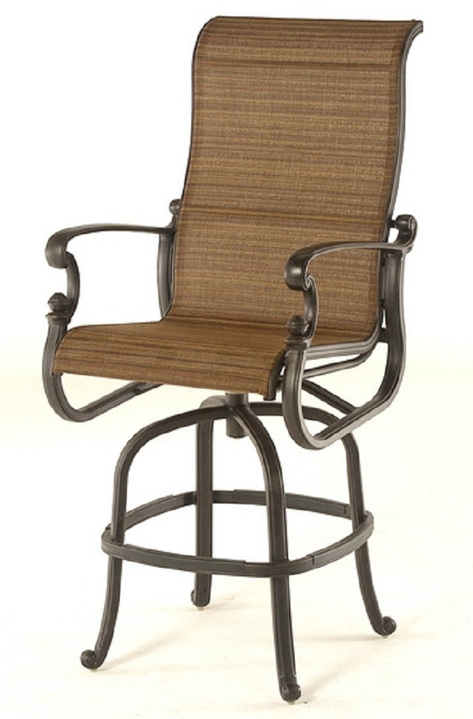 bar height patio set with swivel chairs st augustine by hanamint IFYBXLI