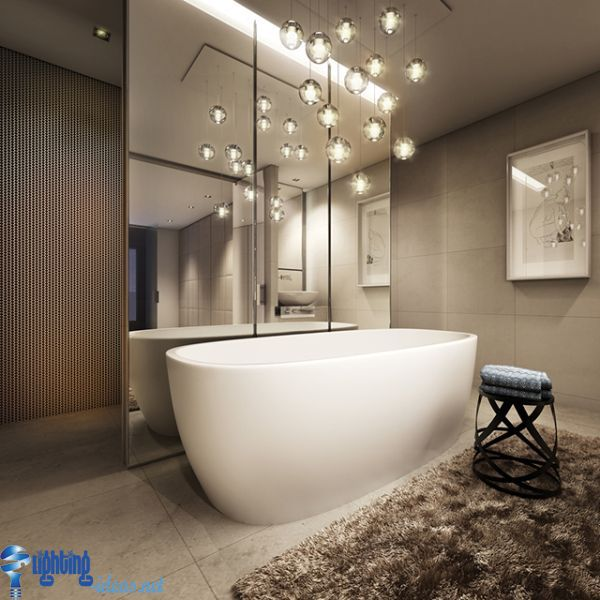 bathroom lighting ideas for small bathrooms bathroom lighting ideas bathroom with hanging lights over bathtub regarding LKHPKJR