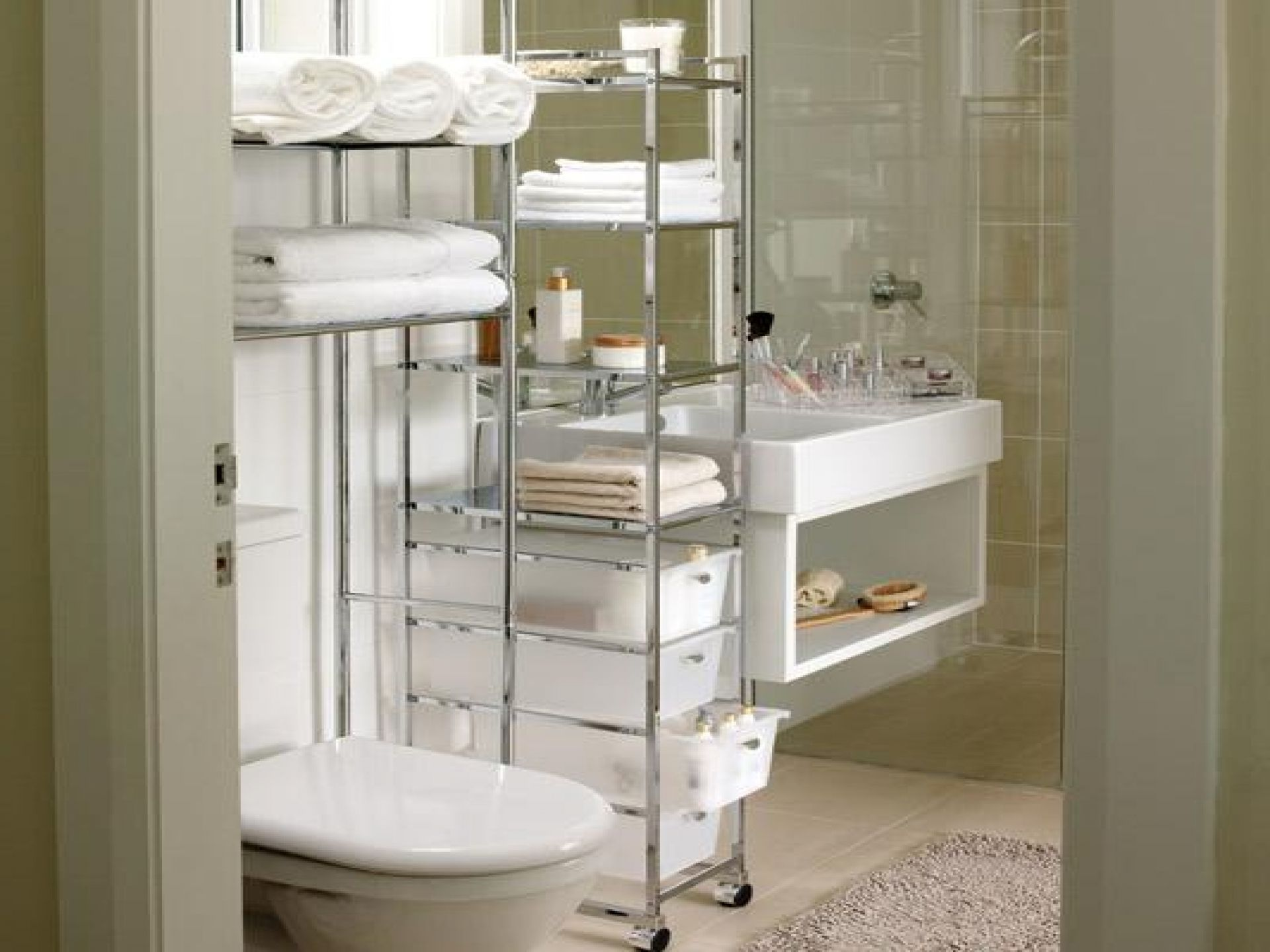 bathroom organization ideas for small bathrooms ... small bathrooms · bathroom tower storage the new way home BRJDJGH