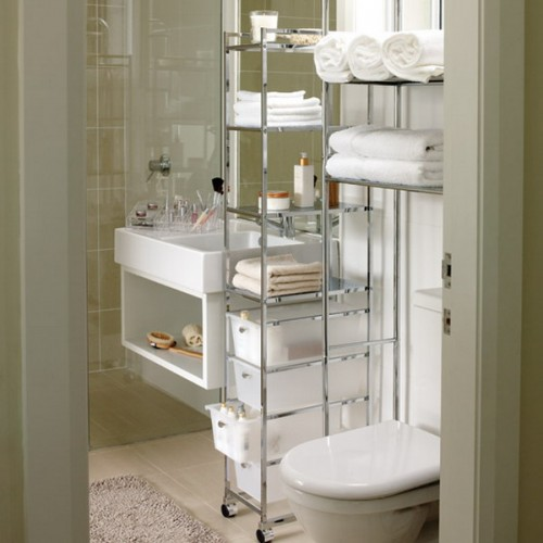 bathroom organization ideas for small bathrooms storage ideas in small bathroom · movable storage solutions are perfect JEWXPFG