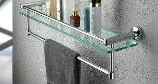 bathroom towel racks bathroom shelf with towel bar brushed nickel bathroom DFTUGIS