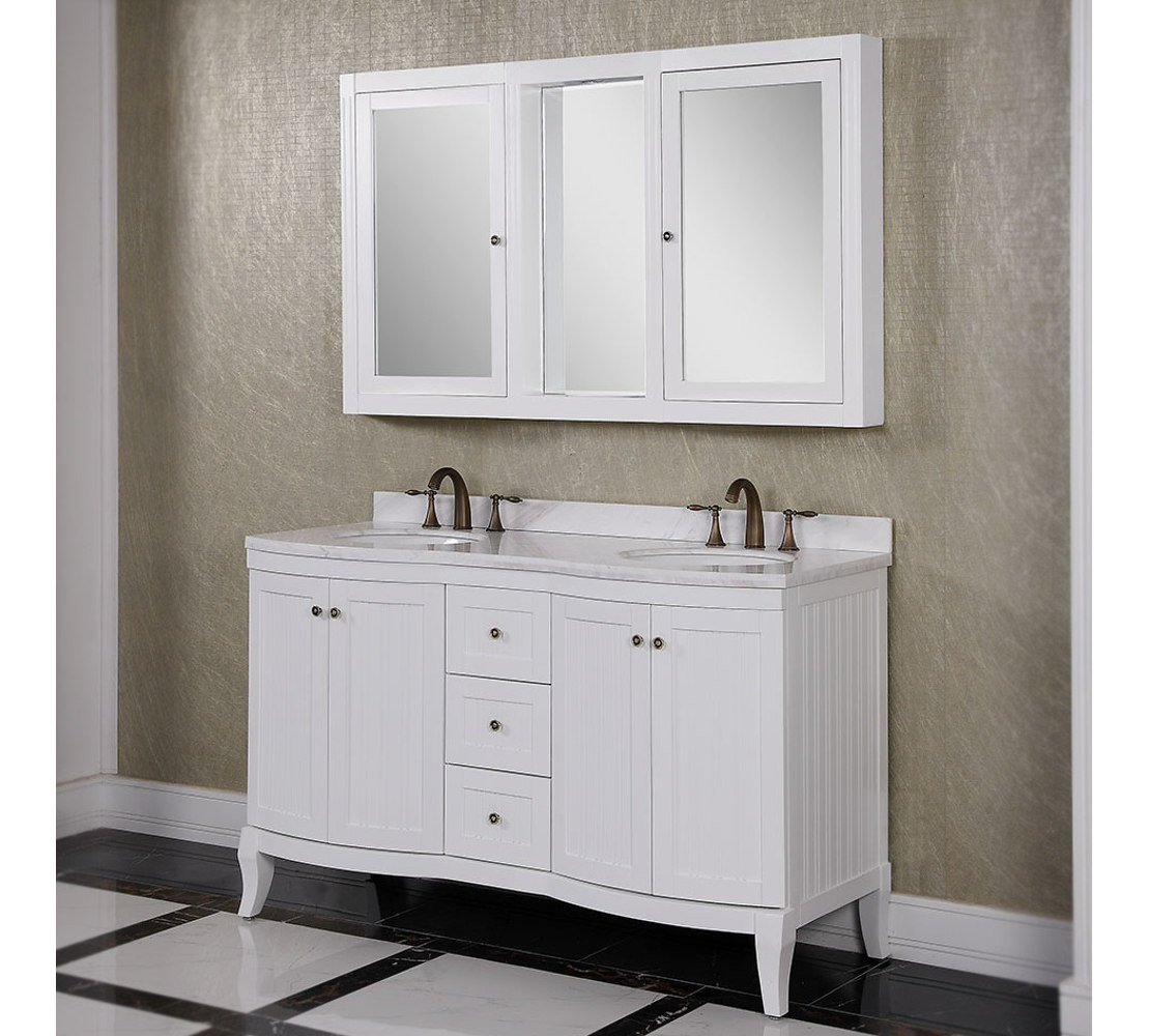 bathroom vanity mirror medicine cabinet accos 60 inch white double bathroom vanity cabinet ... QKJRWWO