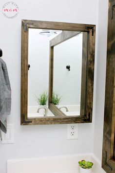 bathroom vanity mirror medicine cabinet diy vanity mirrors! farmhouse style bathroom vanity mirror and medicine AAYJEVP