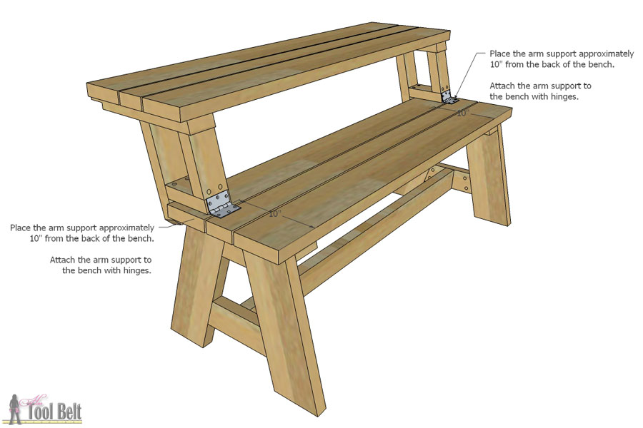 bench that turns into a picnic table plans attach table top to bench YMIEBYC