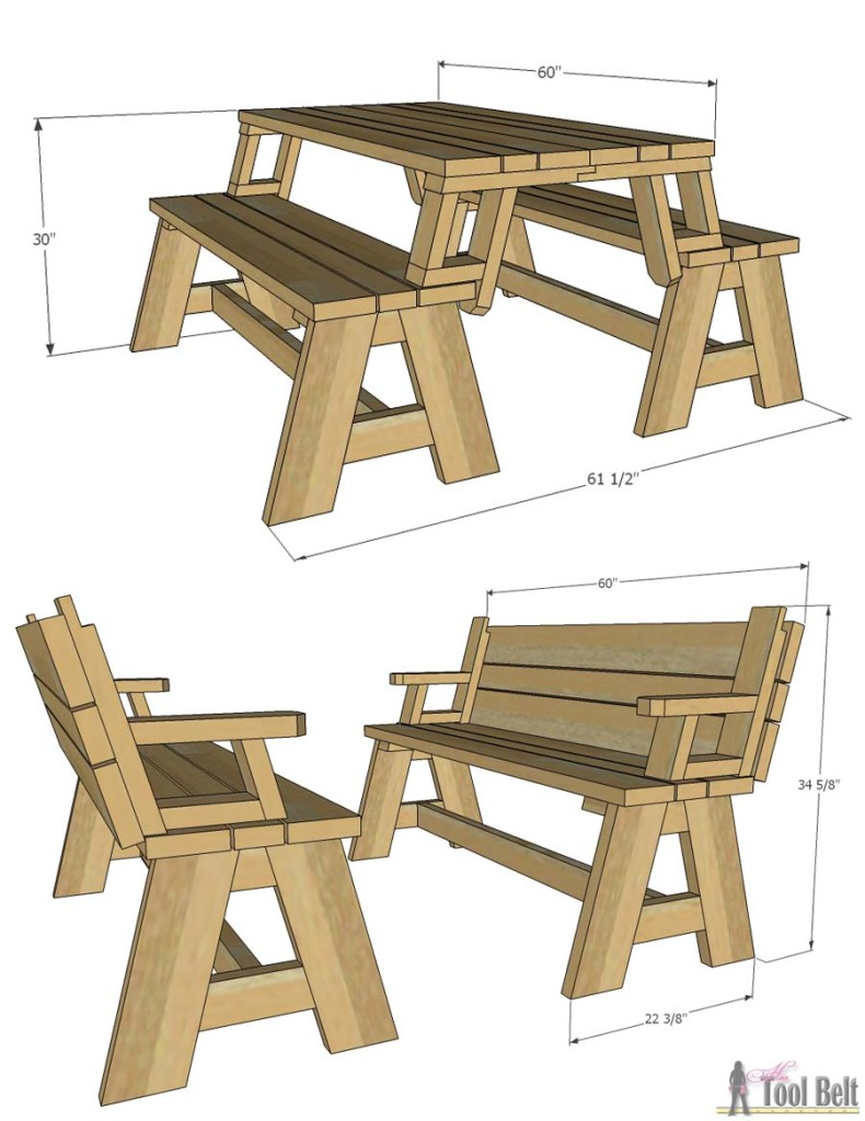 bench that turns into a picnic table plans not only is this picnic table great for outdoor eating, but DINAECK