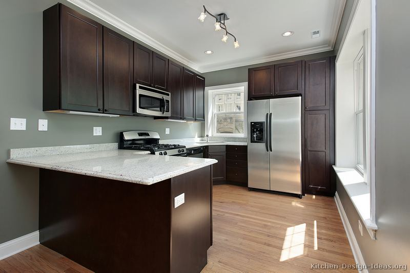 best paint color for kitchen with dark cabinets 23, traditional dark wood / black / espresso kitchen QSTFFBR