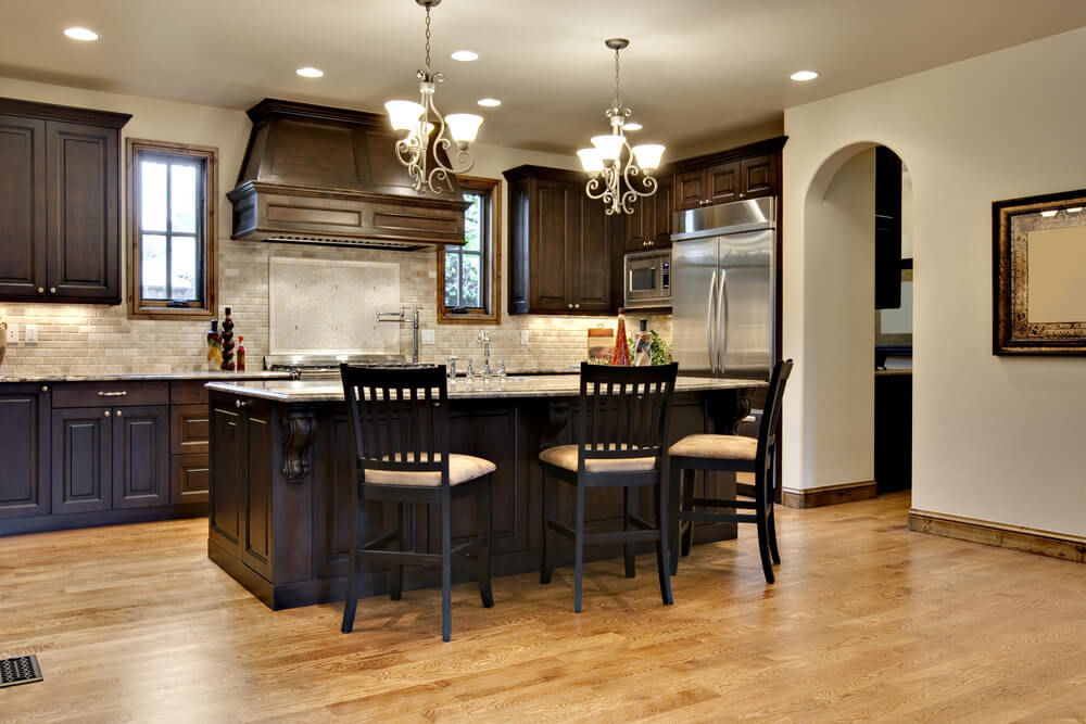 best paint color for kitchen with dark cabinets dark brown kitchen cabinets set GIJXWUU