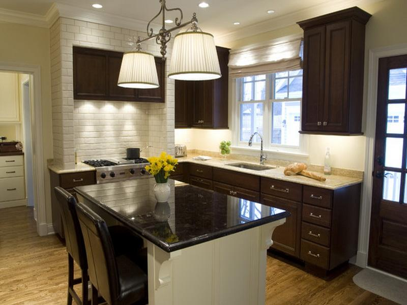 best paint color for kitchen with dark cabinets kitchen paint colors with dark cabinets small ZBIFXRZ