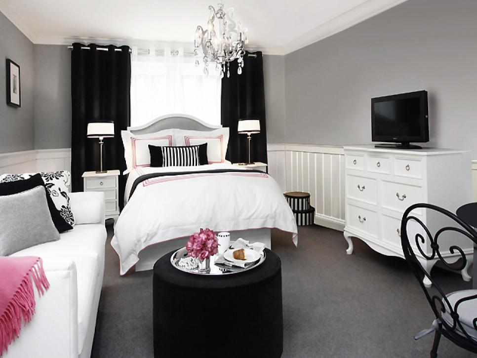 black and white bedroom ideas for small rooms double-duty design ideas | hgtv KVLAIUZ