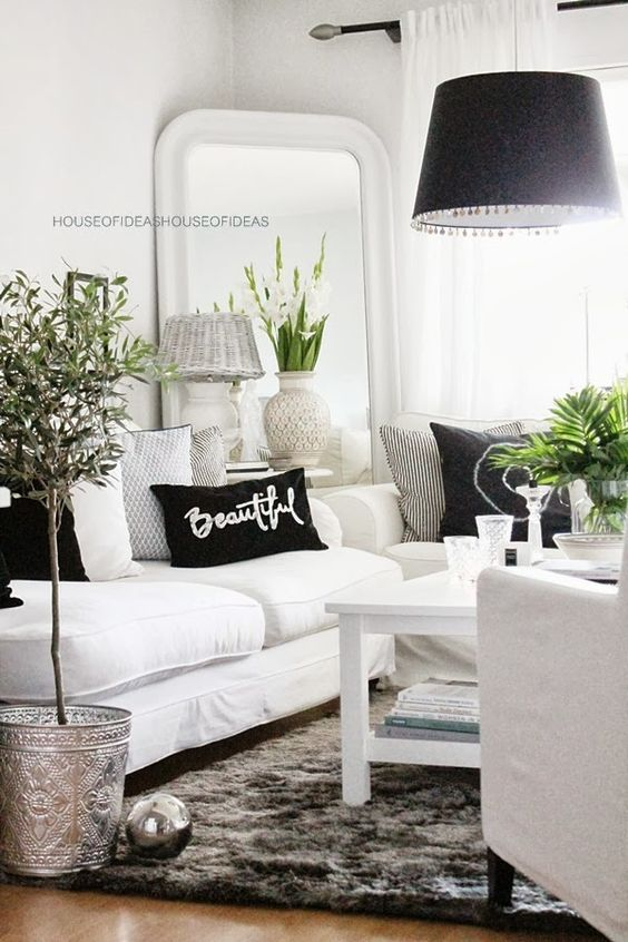 black and white decor ideas for living room 48 black and white living room ideas decoholic within black and TSGDWTT