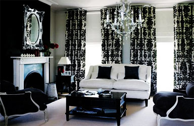 black and white decor ideas for living room black-and-white-living-room QLDMGGB