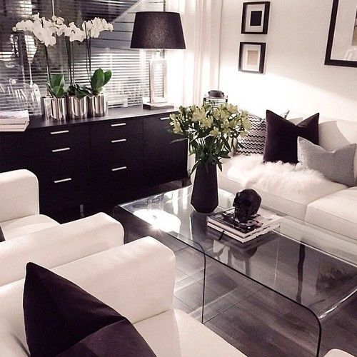 black and white decor ideas for living room decor inspiration ideas: living room | nousdecor.com QCZAYAH