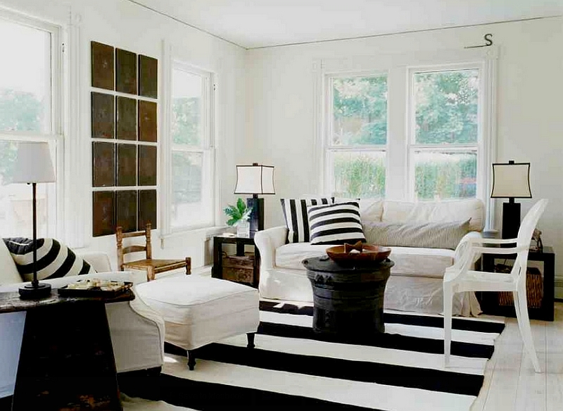 black and white decor ideas for living room view in gallery beach style meets chic farmhouse appeal in this ONMEWVQ