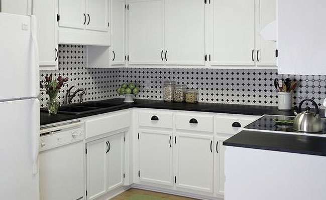 black and white kitchen backsplash ideas black white mosaic backsplash TWWLADJ