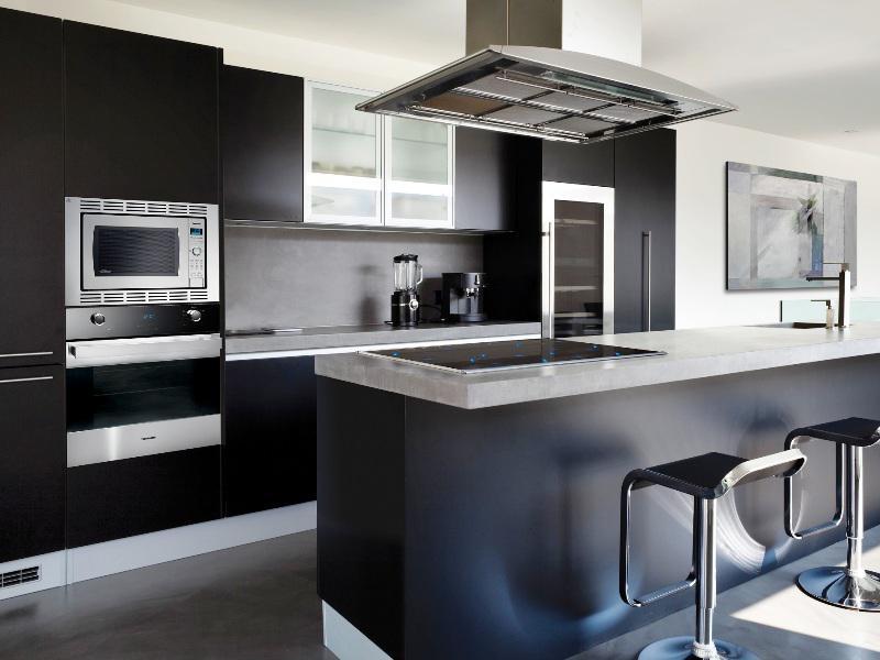black and white kitchens with a splash of colour GLGOKUE