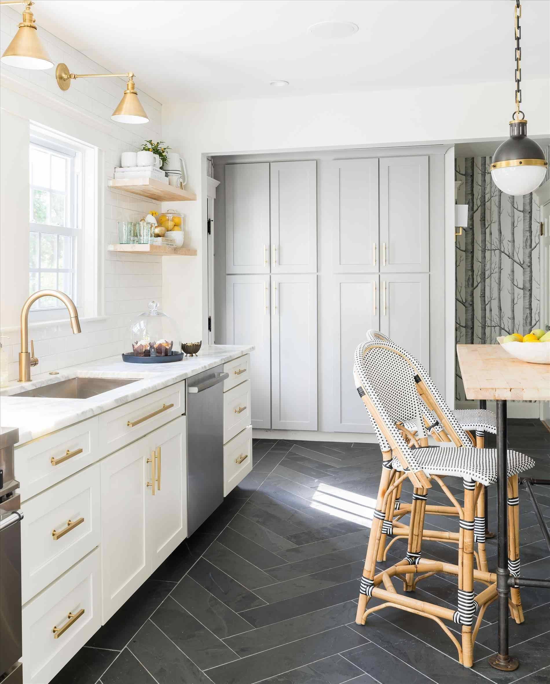 black and white kitchens with a splash of colour ... image of black and white kitchens with a splash of PDVWJSO