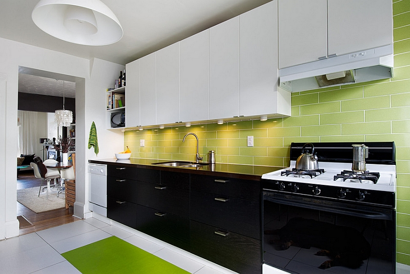 black and white kitchens with a splash of colour view in gallery black, white and green kitchen VPHXKDQ