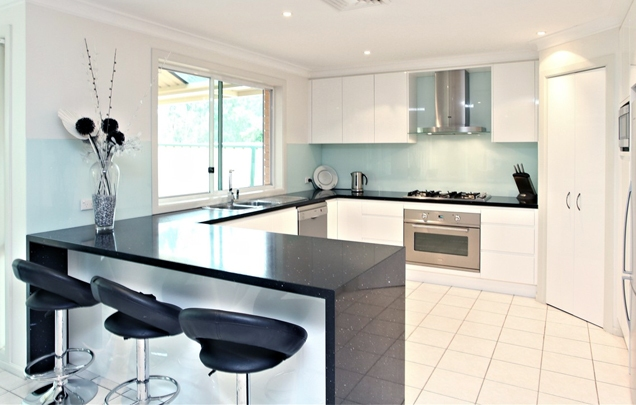 black and white kitchens with a splash of colour WIZNZGS