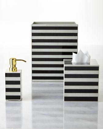 black and white striped bathroom accessories waylande gregory black and white striped vanity accessories WWUHNMM