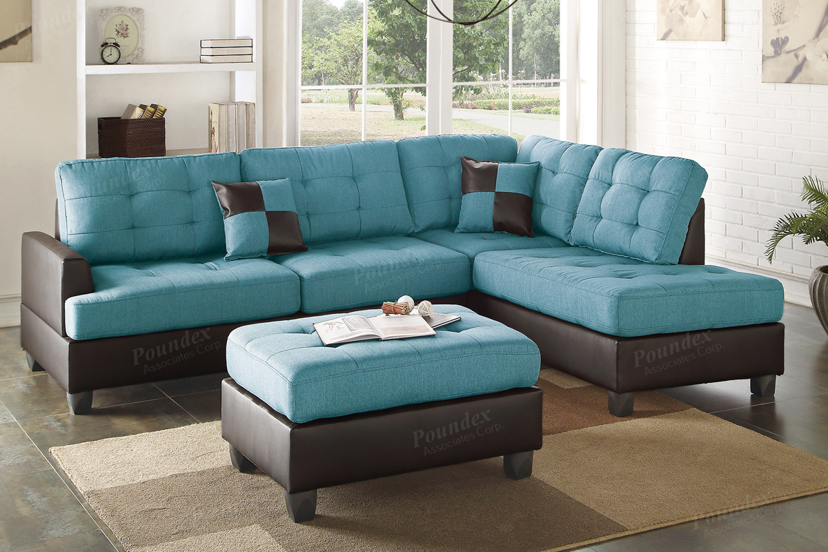 blue leather sectional sofa with chaise ancel blue leather sectional sofa and ottoman YBYMOMH
