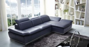 blue leather sectional sofa with chaise with contemporary midnight blue WIXVYSJ