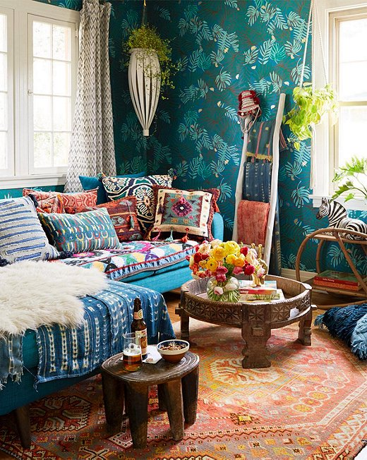 bohemian decorating ideas for living room minimalist blue bohemian decor DWBQGRP