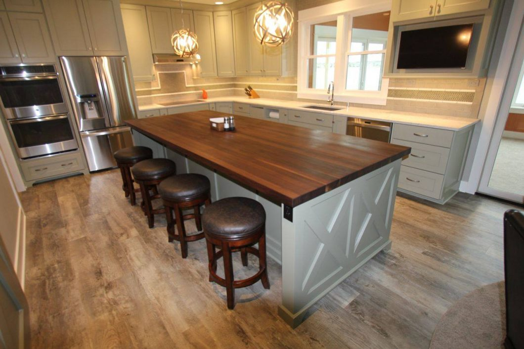 butcher block kitchen island with seating kitchen island butcher block tops islands elegant white oak wood with ZMGVNNF