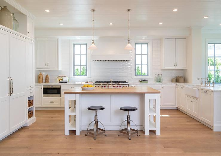 butcher block kitchen island with seating white kitchen island with shelves and butcher block top WJBKETL