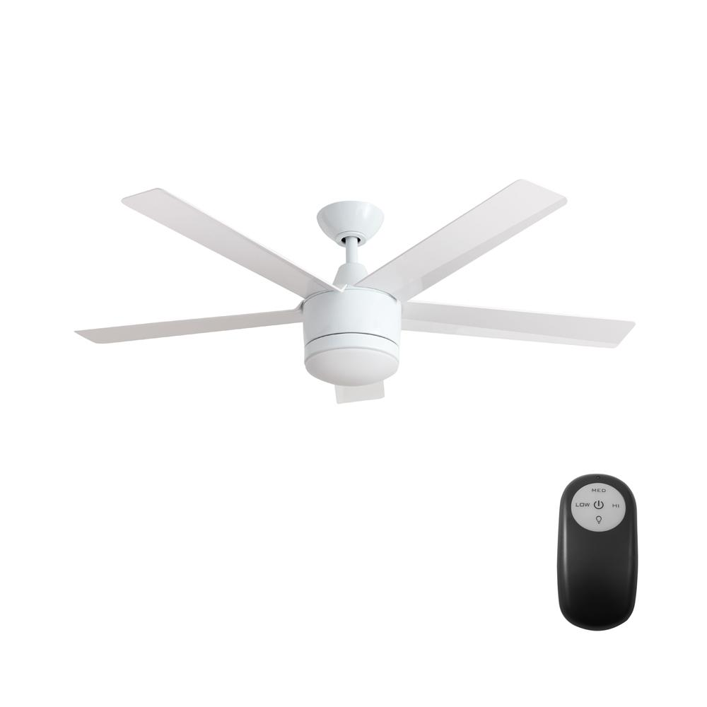 ceiling fans with led lights and remote control home decorators collection merwry 52 in. integrated led indoor white ceiling YIYHTCT