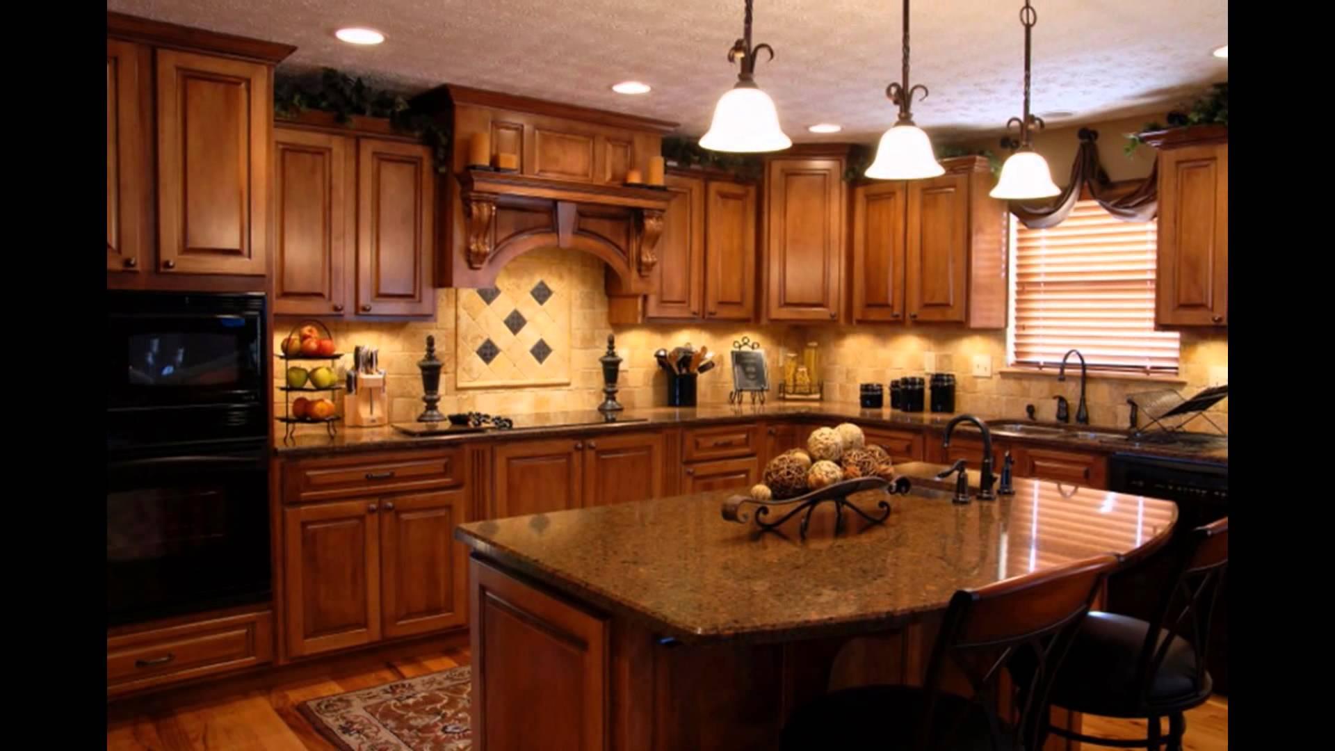 cherry kitchen cabinets with granite countertops cherry-cabinets-with-black-granite-countertops-marble-kitchen- BGGNIED