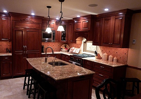 cherry kitchen cabinets with granite countertops cherry cabinets with granite countertops bing images cherry kitchen cabinets