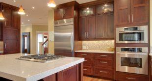 cherry kitchen cabinets with granite countertops ... granite countertops for cherry cabinets? redcabinets EVLOJWQ