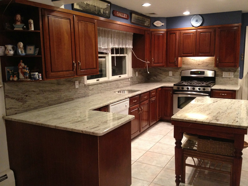 cherry kitchen cabinets with granite countertops soothing agent: river white granite countertops XATINUF