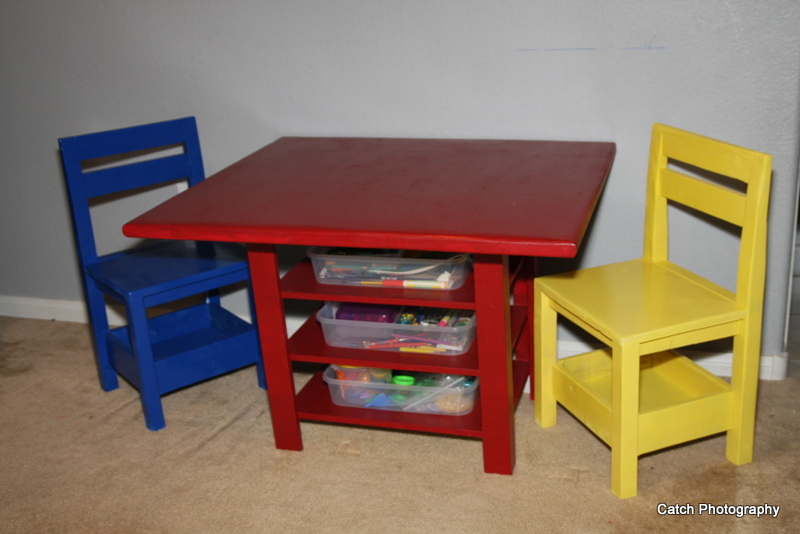 childrens table and chairs with storage ana white | kids storage table with extra storage - diy GNTPKFY