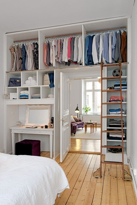 clothing storage ideas for small bedrooms small bedroom storage solution - get rid of the desk and MDWWFIA