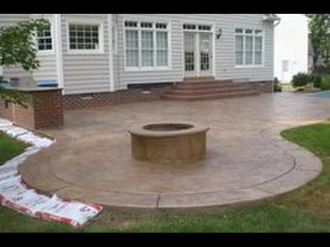 concrete patio ideas for small backyards concrete patio ideas~concrete patio ideas and pictures - youtube XDQTUNG