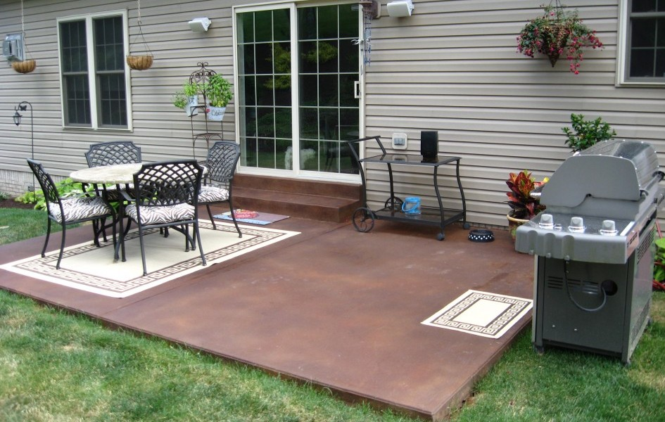 concrete patio ideas for small backyards innovative small concrete patio ideas flagstone design . patio designs for JVTEGPS