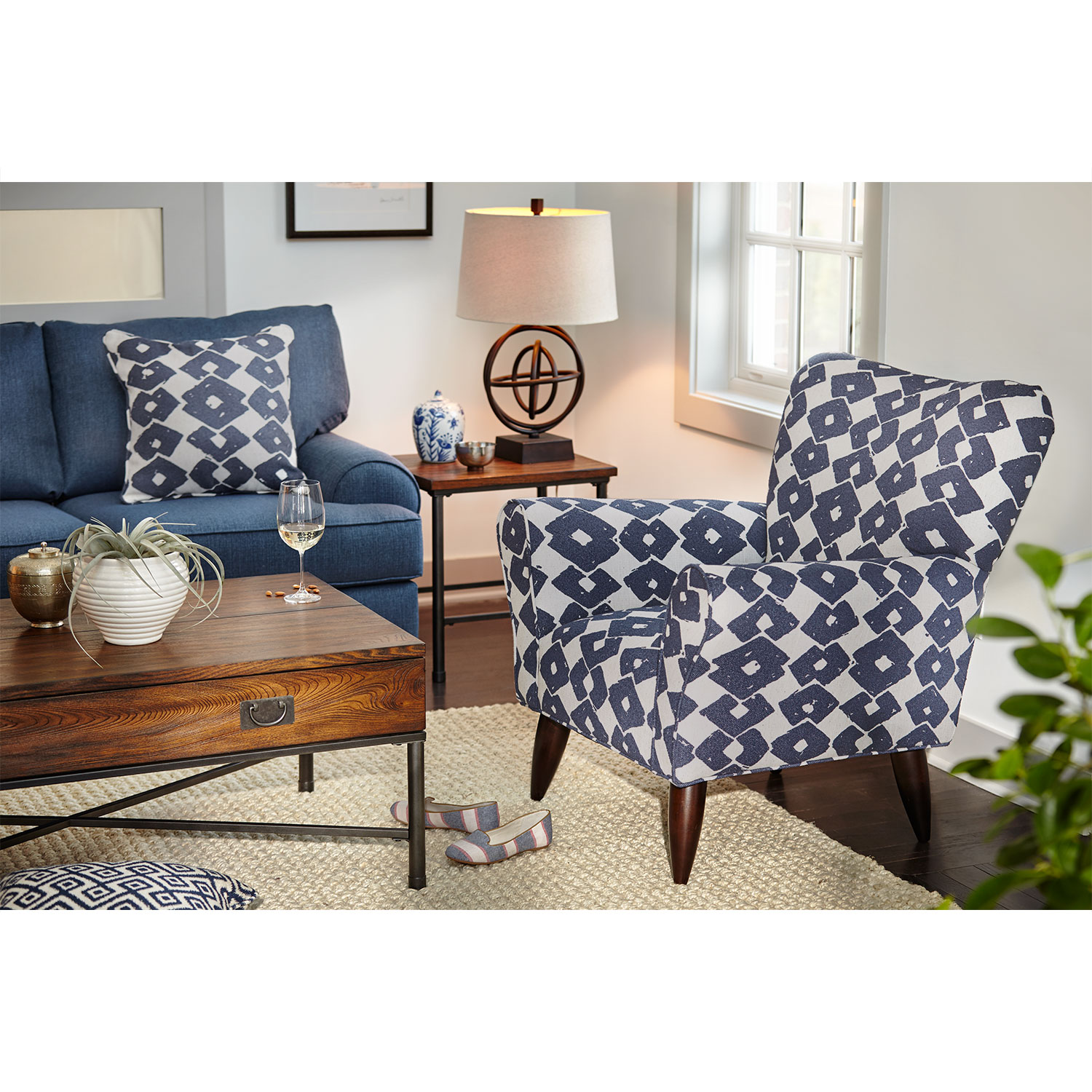 contemporary accent chairs for living room jessie accent chair - blue by kroehler KCEWSUB