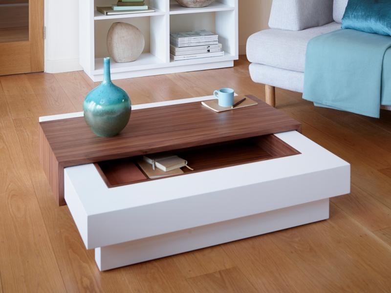 contemporary coffee tables with storage contemporary coffee table with storage in matt stone or matt white KIFXQGE