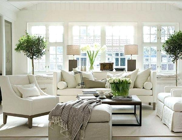 contemporary white living room design ideas decorating with bright modern UYDORHK