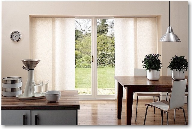 contemporary window treatments for sliding glass doors modern kitchen modern-kitchen NLGTXFA