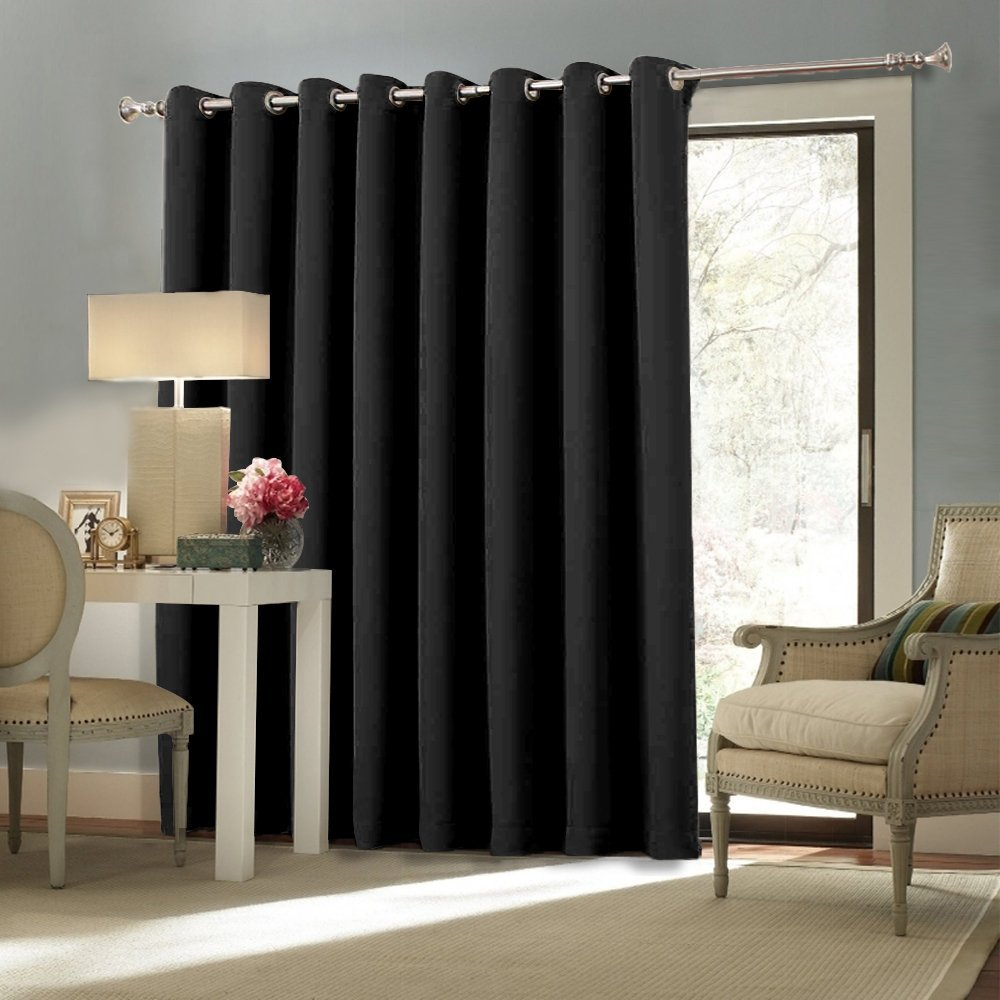 contemporary window treatments for sliding glass doors nicetown space solution extra large grommet top room divider curtain UZNPVDD