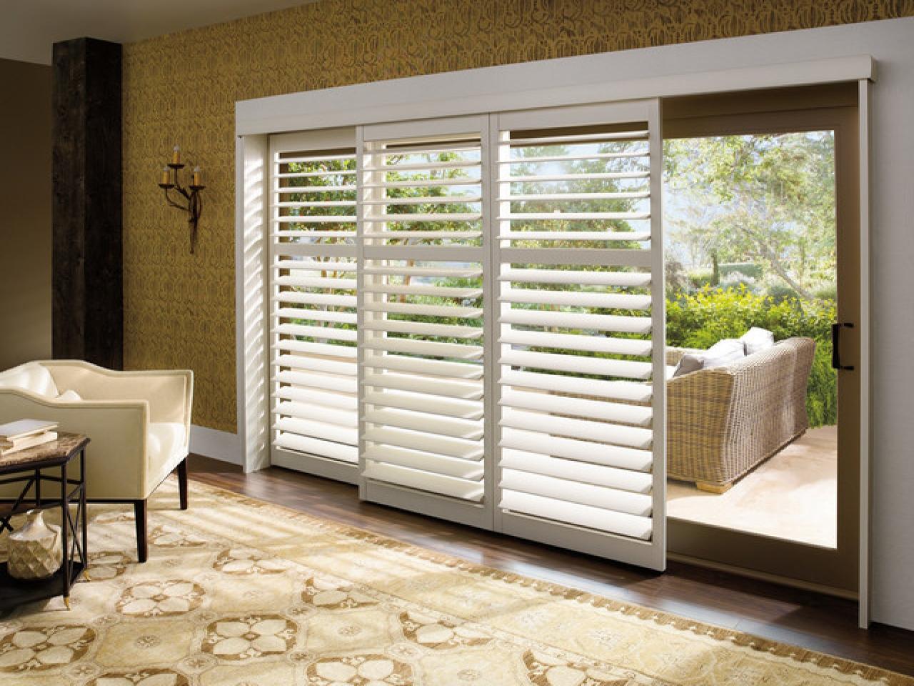 contemporary window treatments for sliding glass doors plantation shutters for sliding glass patio doors SEVXJOJ